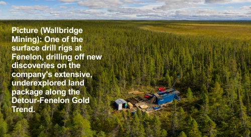 Wallbridge Drilling Fenelon